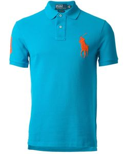 Ralph Lauren Blue | Cotton Classic Polo Shirt From Label Featuring A Classic Polo Collar A Front Button Placket And A Contrast Embroidered Logo At The Chest