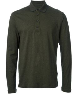 Zegna Sport | Cotton-Wool Blend Long Sleeve Polo Shirt From Featuring A Classic Polo Collar And A Front Button Placket