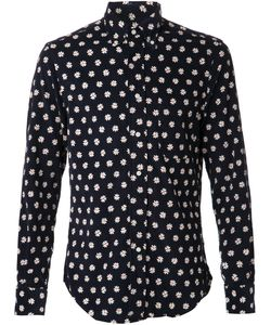 GITMAN BROS | Cordouroy Daisy Print Shirt From Featuring A Classic Collar A Front Button Fastening A Patch Pocket At The Chest Long Sleeves And Button Cuffs