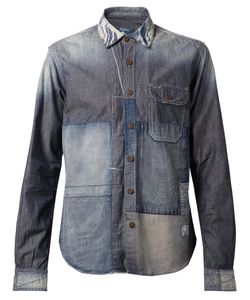 PRPS Goods & Co | Cotton Patchwork Denim Shirt From Prps Goods And Co