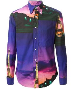 GITMAN BROS | Paris Landscape Print Shirt