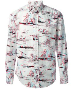 GITMAN BROS | Multicoloured Cotton Hawaian Print Shirt From