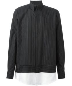 CASELY-HAYFORD | And Cotton Contrasting Hem Pinstripe Shirt From