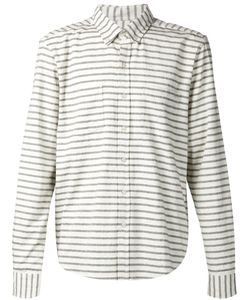 Lucio Castro | Cement And Cotton Striped Shirt From