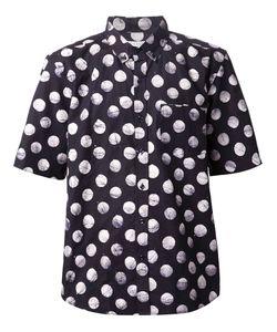 Lucio Castro | Navy Cotton Polka Dot Print Shirt From