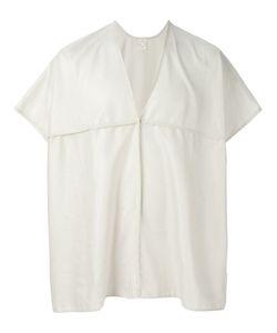 JAN JAN VAN ESSCHE | Cotton-Linen Blend Oversized V-Neck Tunic From