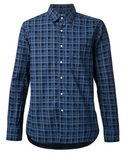 OVADIA & SONS | Navy Cotton Checked Shirt From