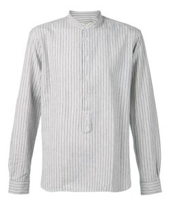 Man | And Cotton Striped Band Collar Shirt From 1924