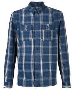 RRL | Navy Cotton Plaid Shirt From