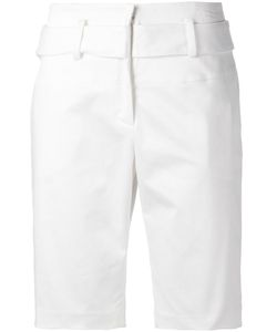JI OH | Stretch Cotton High Waisted Shorts From Featuring A Concealed Front Fastening And Belt Loops