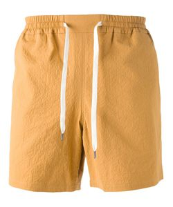 A Kind Of Guise | Mustard Cotton Blend Sethos Shorts From