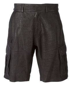 Sly010 | Leather Cargo Shorts From