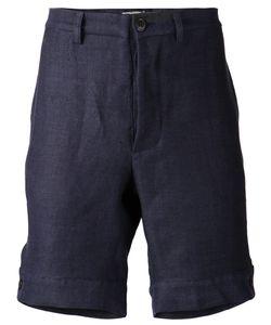 THADDEUS O'NEIL   Linen Herringbone Pattern Shorts From