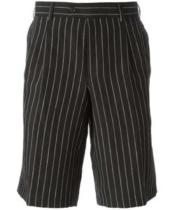 CASELY-HAYFORD | And Linen Pinstripe Tailored Shorts From