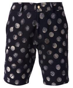 Lucio Castro | Navy Cotton Polka Dot Print Shorts From