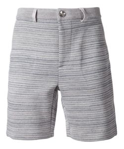 S.N.S. HERNING | And Navy Cotton-Merino Blend Striped Knit Shorts From S
