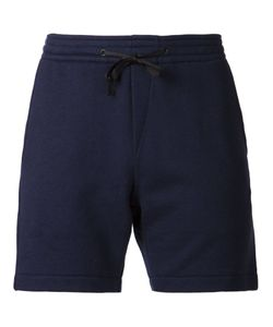N. Hoolywood | Navy Cotton Blend Drawstring Track Shorts From N