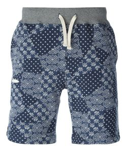 Riding High | Navy Cotton Jacquard Track Shorts From