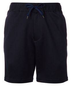 Undecorated Man | Navy Cotton Blend Panelled Track Shorts From Featuring An Elasticated Waistband With A Drawstring Fastening Side Pockets And Back Zipped Pockets