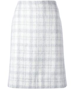 J JS LEE | Tartan Pattern A-Line Skirt