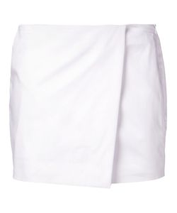 JI OH | Cotton Blend Wrap Mini Skirt From