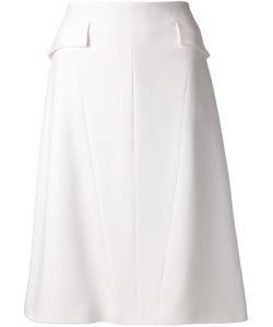 Wes Gordon | Silk Midi Godet Skirt From Featuring An A-Line Shape A Rear Zip Fastening An Exposed Seam Detail And A Straight Hem