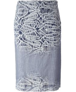 Gabriele Colangelo | And Cotton Embroidered Straight Skirt From