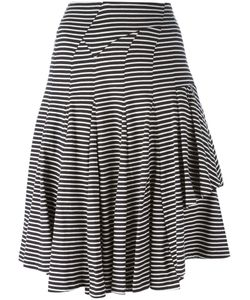 YOSHI KONDO | Navy And Cotton Sundey Skirt From