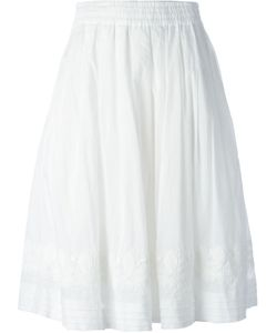 Zucca | Cotton Embroidered Hem Skirt From
