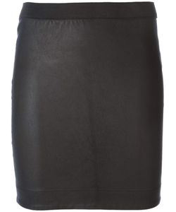 Bydanie | Leather Fitted Mini Skirt From
