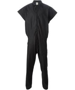 JAN JAN VAN ESSCHE | Charcoal Linen Boxy Shirt Jumpsuit From