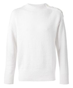 CAMOSHITA BY UNITED ARROWS | Linen And Cotton Button Shoulder Sweater From