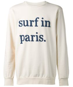 CUISSE DE GRENOUILLE | Cream And Cotton Surf In Paris Sweatshirt From