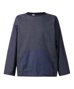 N. Hoolywood | Navy Cotton Blend Denim Sweatshirt From N