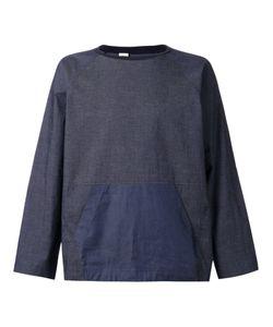 N. Hoolywood | Navy Cotton Blend Denim Sweatshirt From N