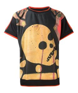 Sibling | Multicoloured Skull Print T-Shirt From