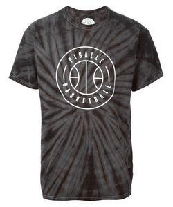 PIGALLE | Dark Cotton Logo Print Tie Dye T-Shirt From