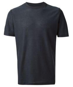 A Kind Of Guise | Navy Cotton Teris Textured T-Shirt From