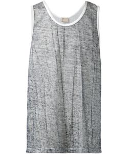 THADDEUS O'NEIL | Linen Blend Contrasting Trim Tank Top From
