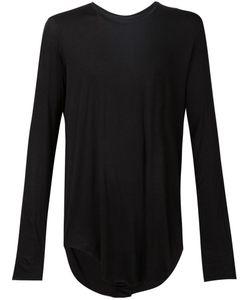 ZAM BARRETT | Cotton Blend Asymmetric Draped T-Shirt From