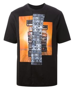 SYSTEM HOMME | Amplifier Print T-Shirt