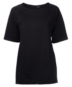 SALLY LAPOINTE | Nylon Blend Snakeskin Texturejacquard Tunic From Featuring A Round Neck And Short Sleeves