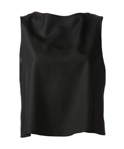Jc De Castelbajac   Silk Draped Tank Top From Featuring A Boat Neck A Sleeveless Design And Open Back