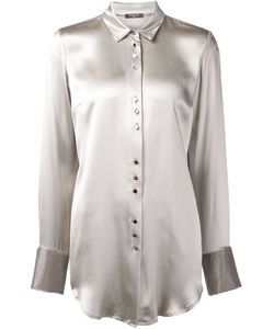 Aurelie Demel | Pearl Silk Magny Shirt From Featuring A Classic Collar A Front Button Fastening Long Sleeves And Button Cuffs