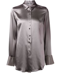 Aurelie Demel | Silk Magny Shirt From Featuring A Classic Collar A Front Button Fastening Long Sleeves And Button Cuffs