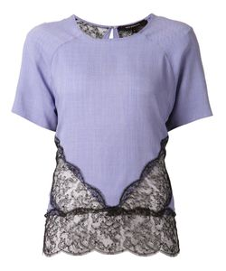 Wes Gordon | And Silk Blend Lace Panel Blouse From