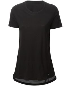 Silent Damir Doma | Cotton And Silk Blend Contrast Draped T-Shirt From