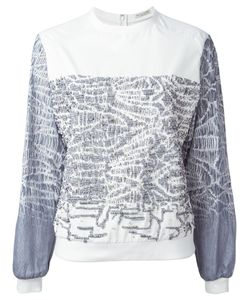Gabriele Colangelo | Cotton And Silk Beaded Sweatshirt From