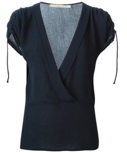 Cotélac   Marine Ruched Sleeve Blouse From