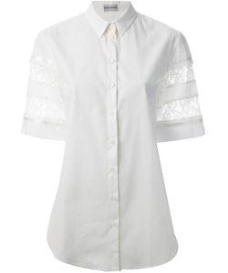 Philosophy | Cotton Lace Detail Shirt From Di Alberta Ferretti
